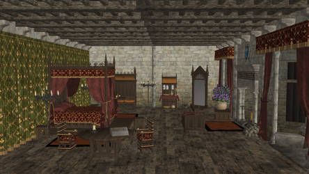 Medieval Castle Bedroom for XPS by Fuzzy-Moose