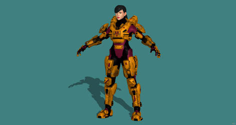 Spartan 099: Kim (Halo OC) Model Release for XPS by TastyMoonCheese