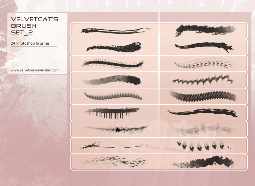 Velvetcat's Brush Set_2 by velvetcat