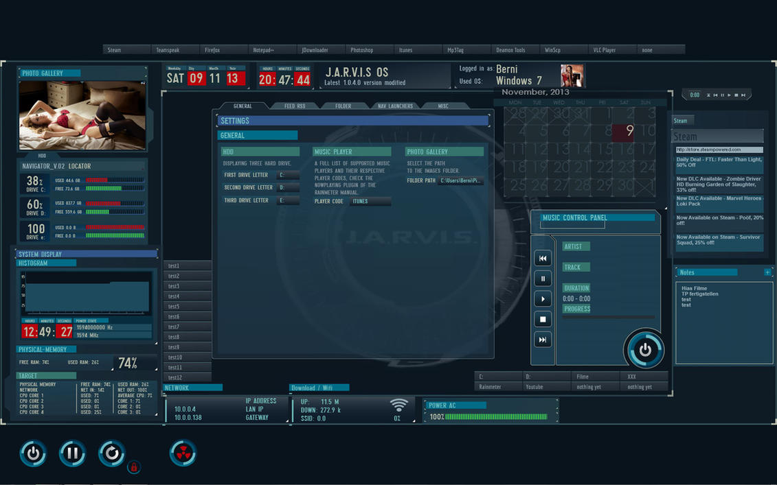 J.A.R.V.I.S OS modified 1.0.4.0 by sg1-aprophis