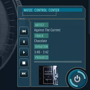 Music Control Panel for J.A.R.V.I.S OS