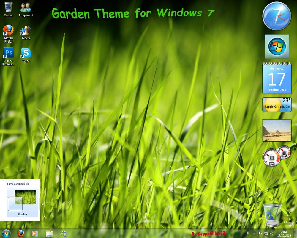 Garden Theme For Windows 7 By Peppemilan22 On DeviantArt