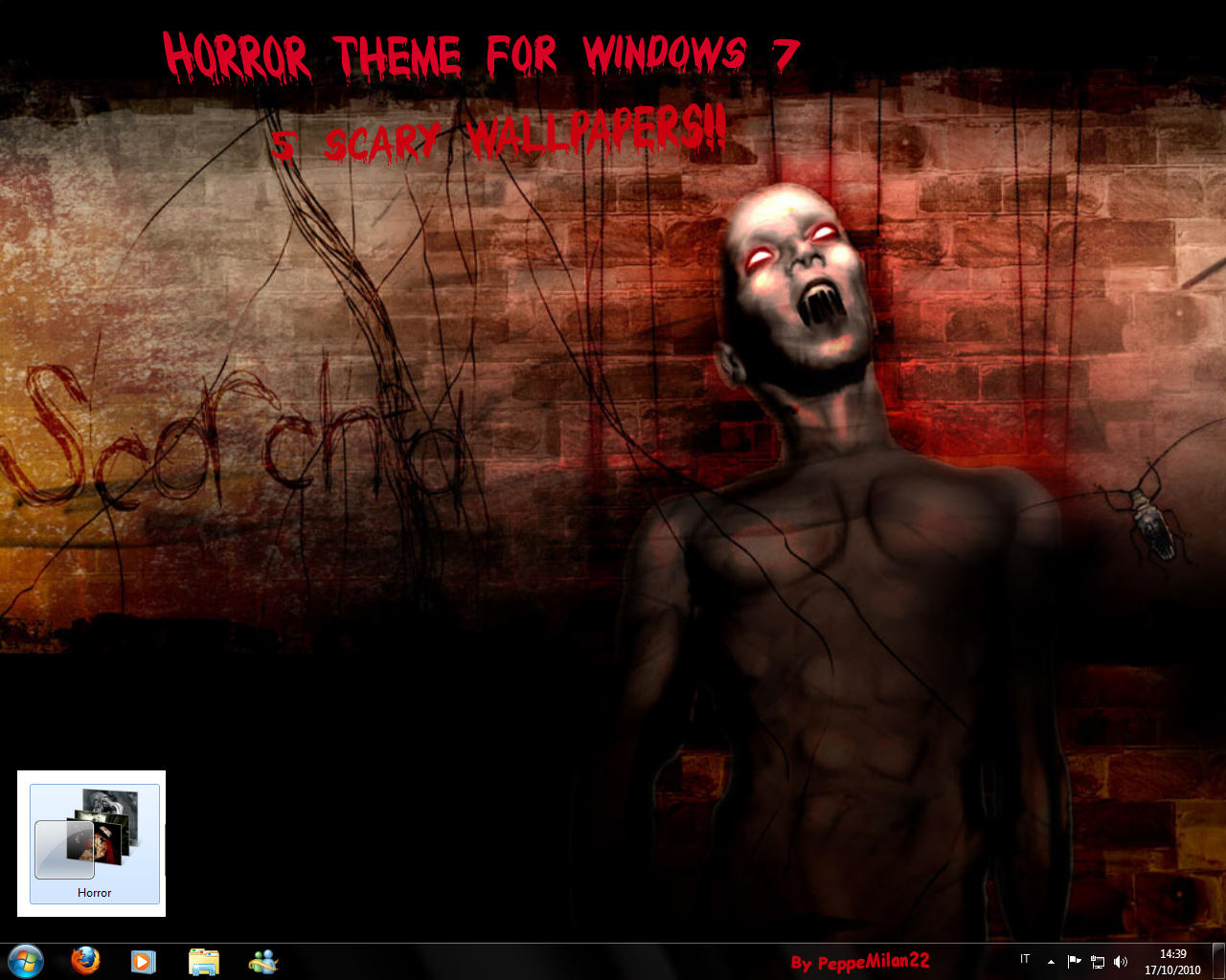 Horror themes for windows 7 and xp download