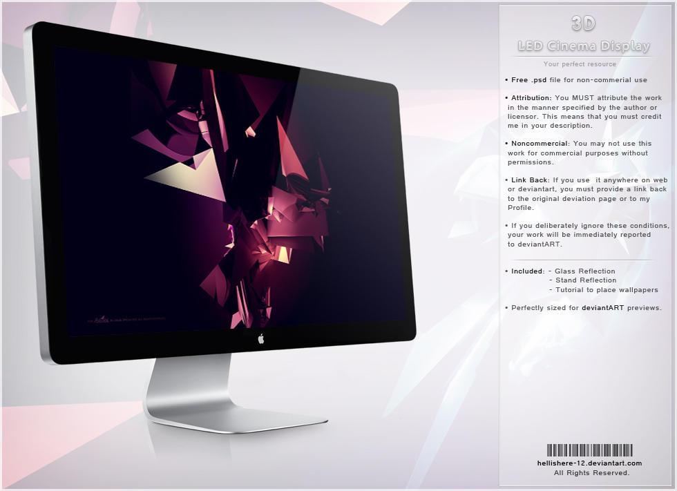 LED Cinema Display 3D by hybridic