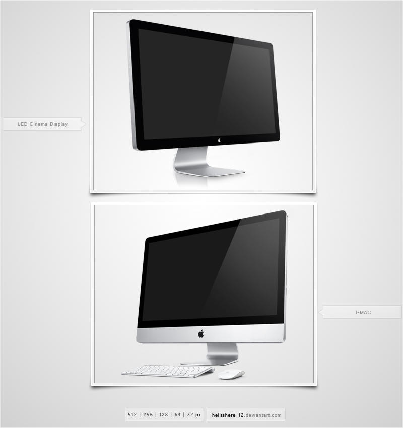 Apple Screen Icons by hybridic