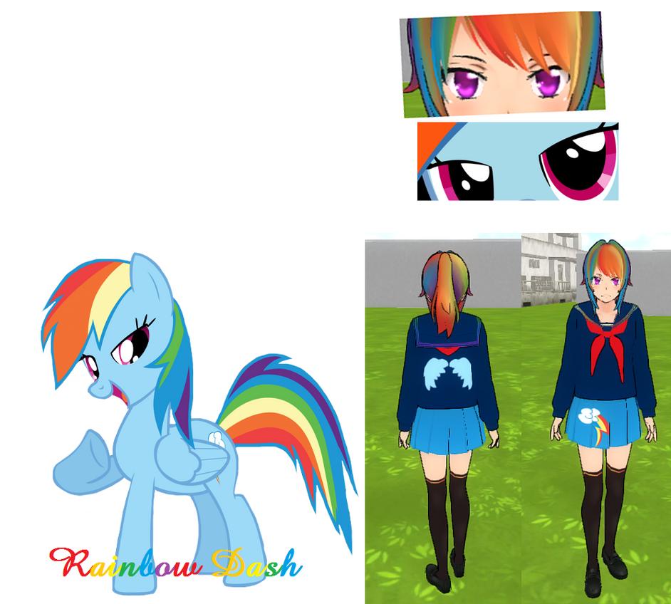 Rainbow Dash - Yandere Sim Skin by xKittyIconsx