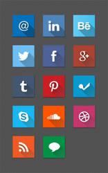 Social Icon Set by ZKrispis