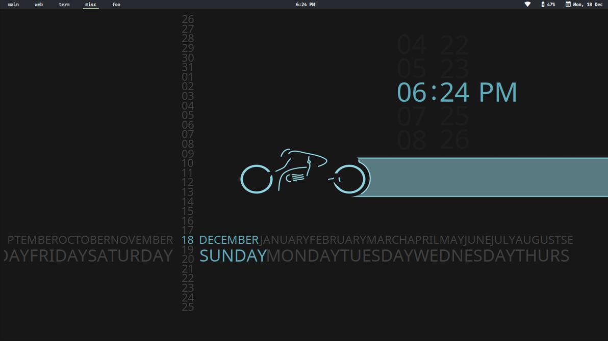 Fade Clock Conky by easysid