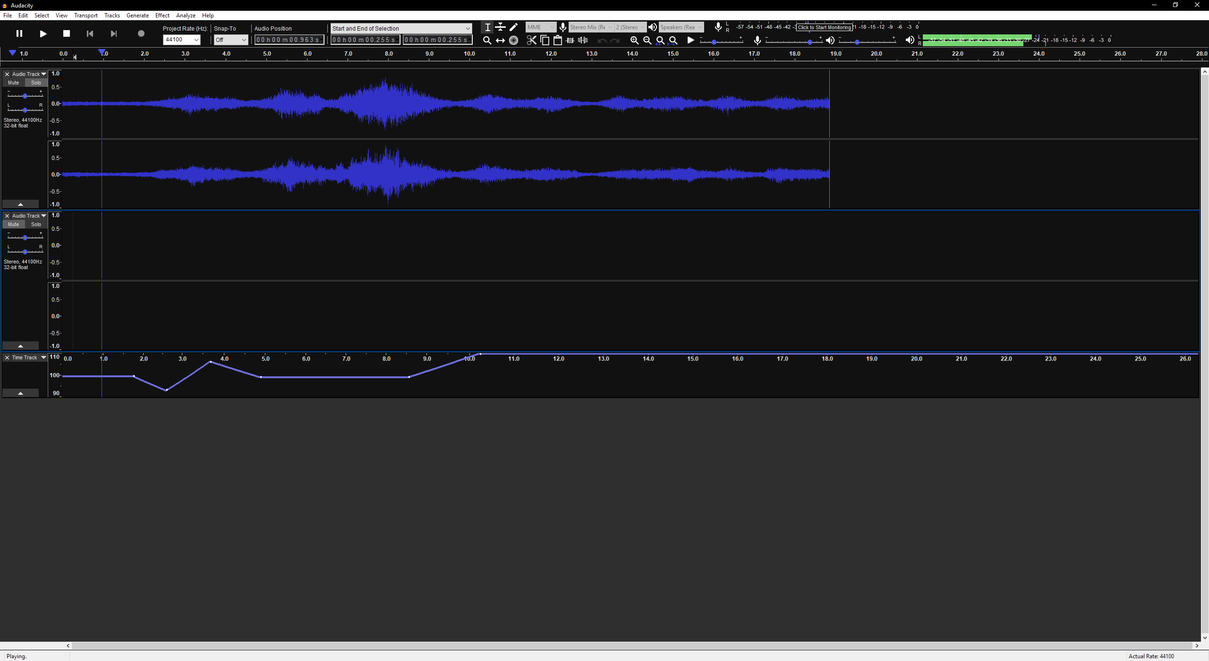 Audacity Clean Dark Theme by Podel by Podel1