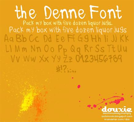 denne font