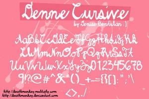 Denne Cursive Font by deathmunkey