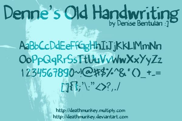 Denne's Old Handwriting
