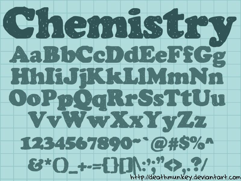 Chemistry Font by deathmunkey