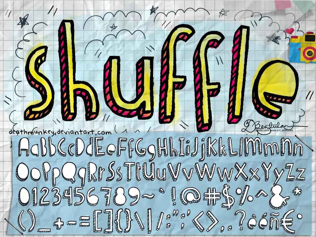 Denne Shuffle - Fuente tipográfica