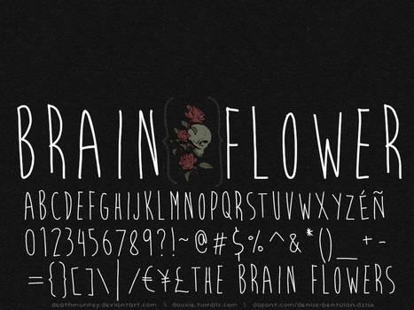 Brain Flower : A Font