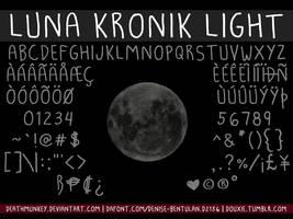 Luna Kronik Light Font by deathmunkey