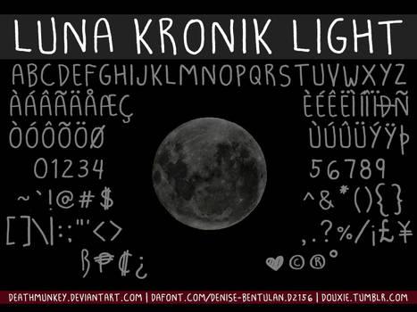 Luna Kronik Light Font