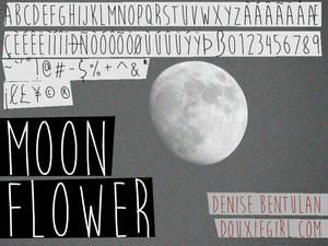 Moon Flower Font
