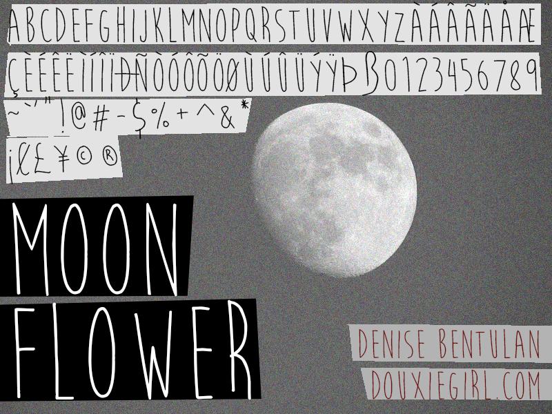 Moon Flower Font by deathmunkey