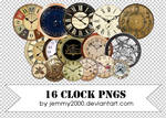 [Resources] 16 Clock PNGs - Pack 1