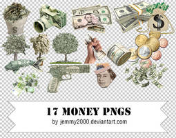 [Resources] 17 Money PNGs - Pack 2 by jemmy2000
