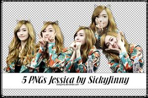 5 PNGs Jessica by SickyJinny