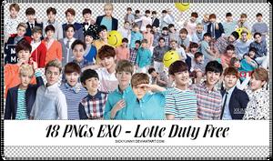 18 PNGs EXO - Lotte Duty Free Magazine by SickyJinny
