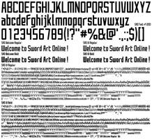 Sword Art Online Font