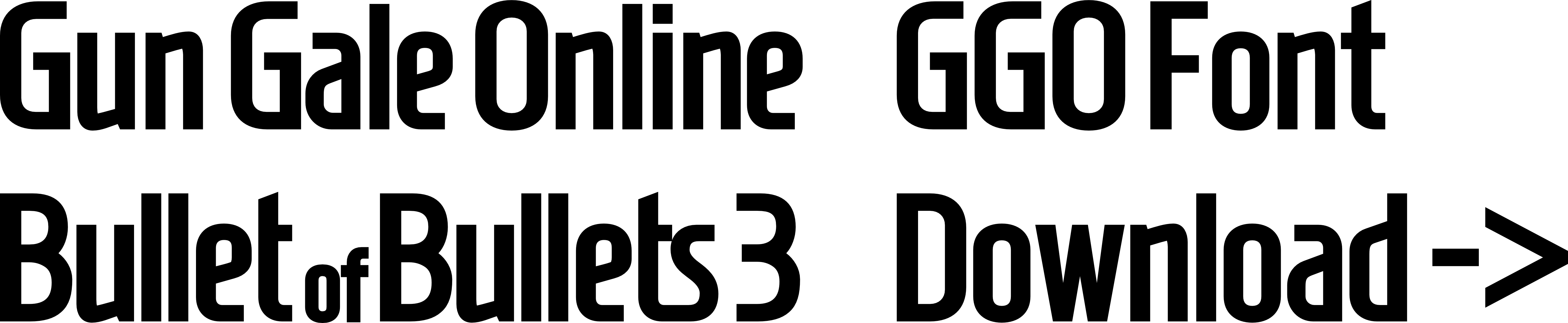 One Line Font Art : Gun gale online ggo title logo font by darkblackswords
