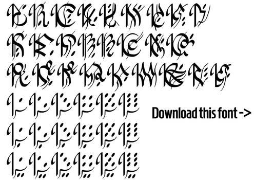 No Game No Life - Imanity Script Font