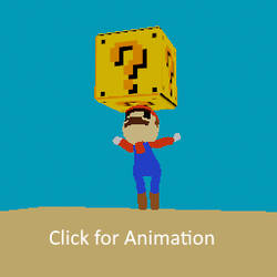 Lowpoly Mario Sprite Art Jumping - Blender 3d