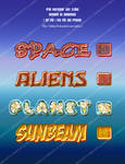 space theme text styles