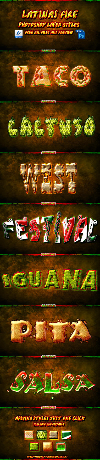latin fever ps text styles by dabbex30