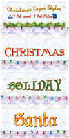 christmas photoshop layer styles_by dabbexsahi