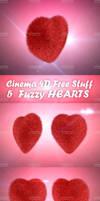 3D FUZZY HEARTS