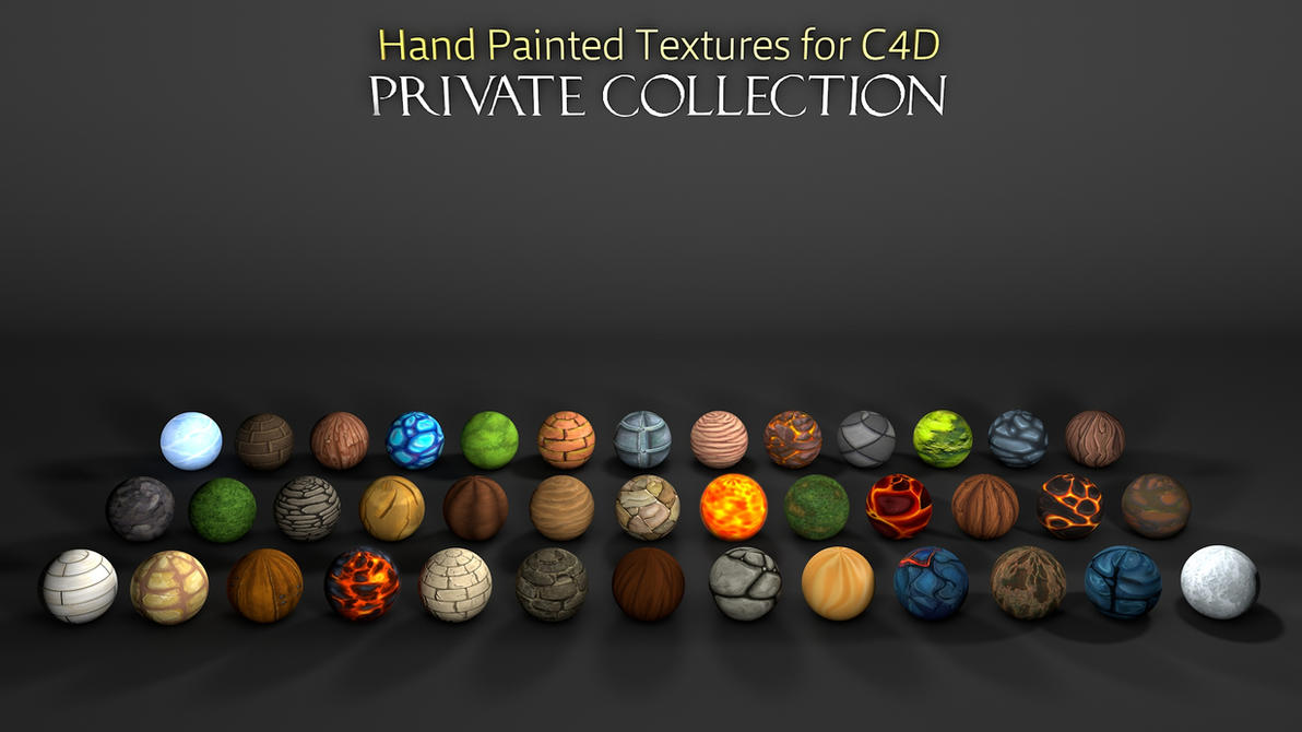 Hand Painted Materials (Textures) C4D by dabbex30 on DeviantArt