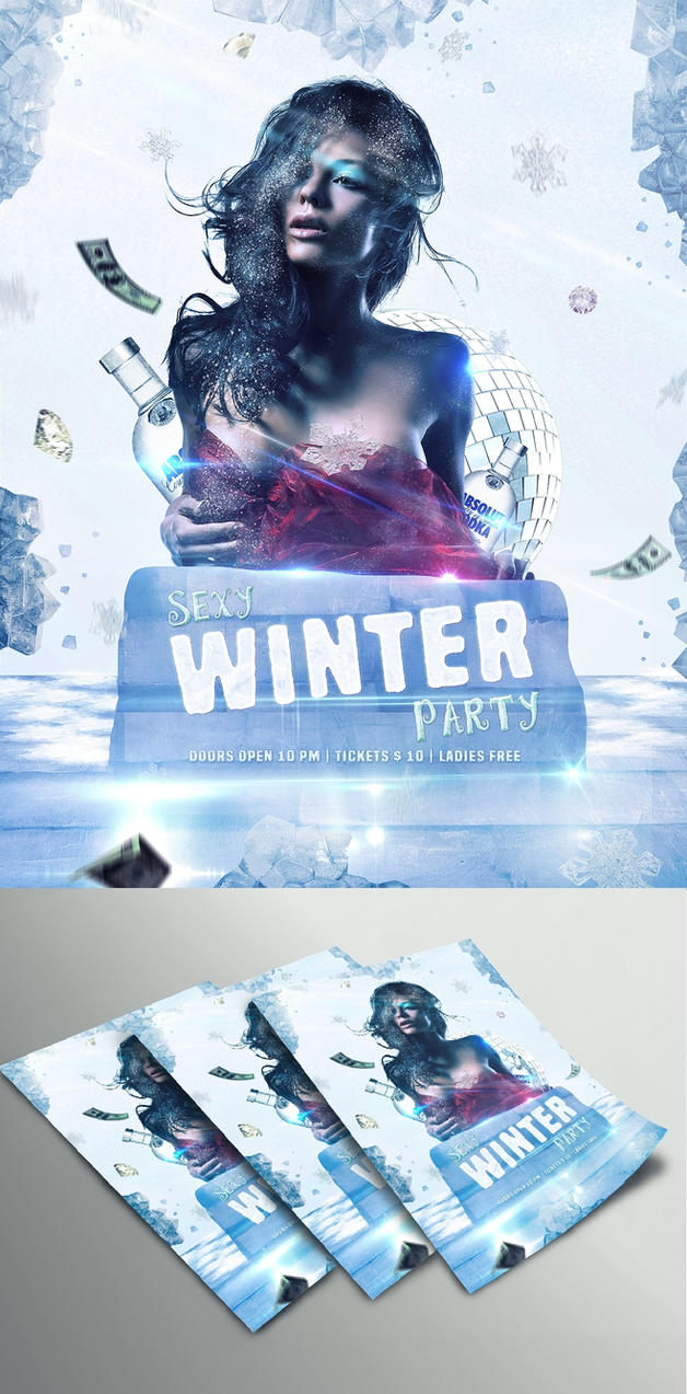 Winter Party Flyer by_Dabbexsahi by dabbex30