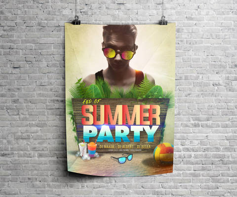 Free End of Summer Party Poster byDabbexsahi
