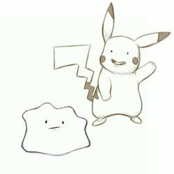 November Bonus - Ditto Pikachu by GTK666
