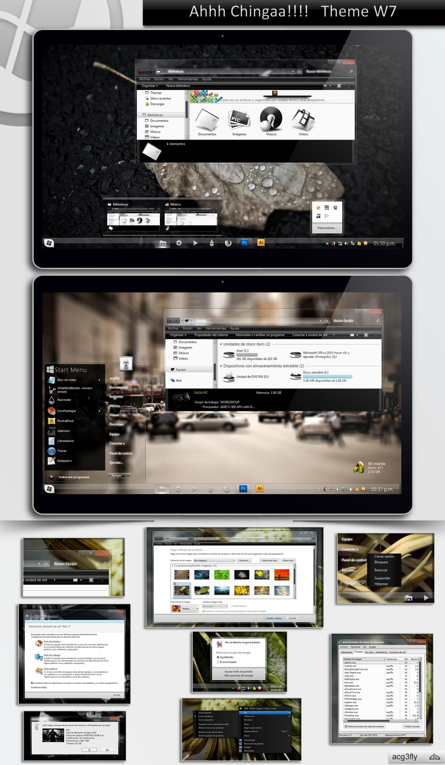 Theme Windows7 Ahhh Chingaa!! (last updated 9/Mar) by acg3fly