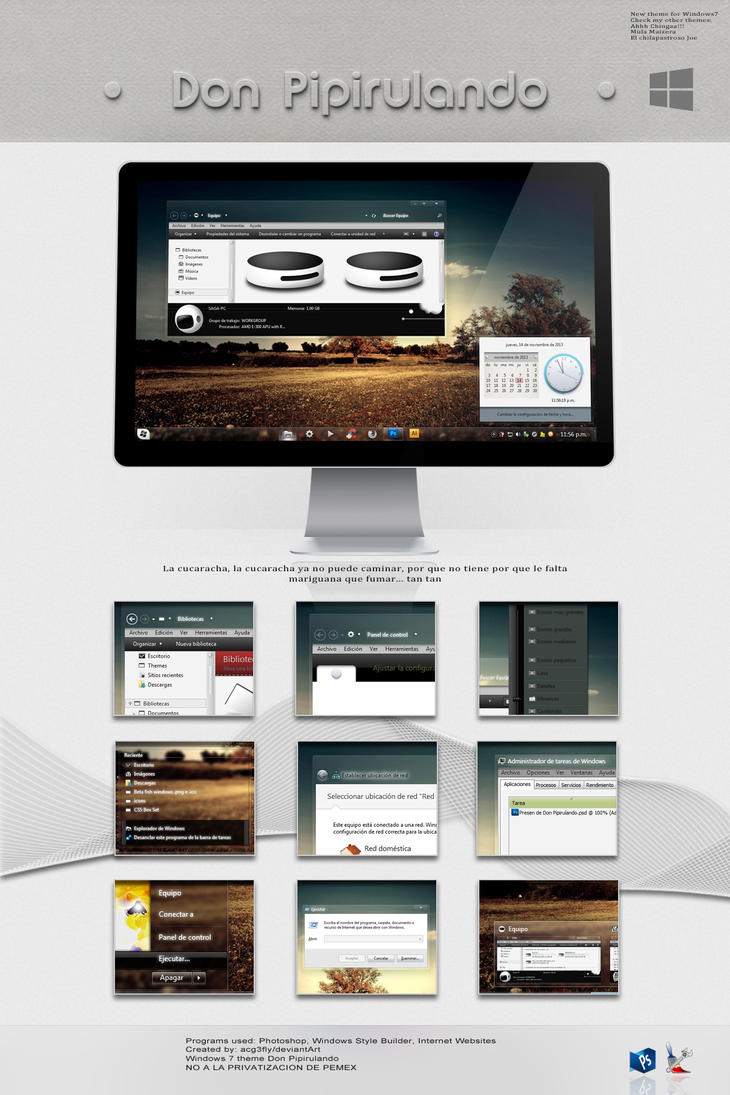 Theme W7 Don Pipirulando(updated 11/Mar/2014) by acg3fly