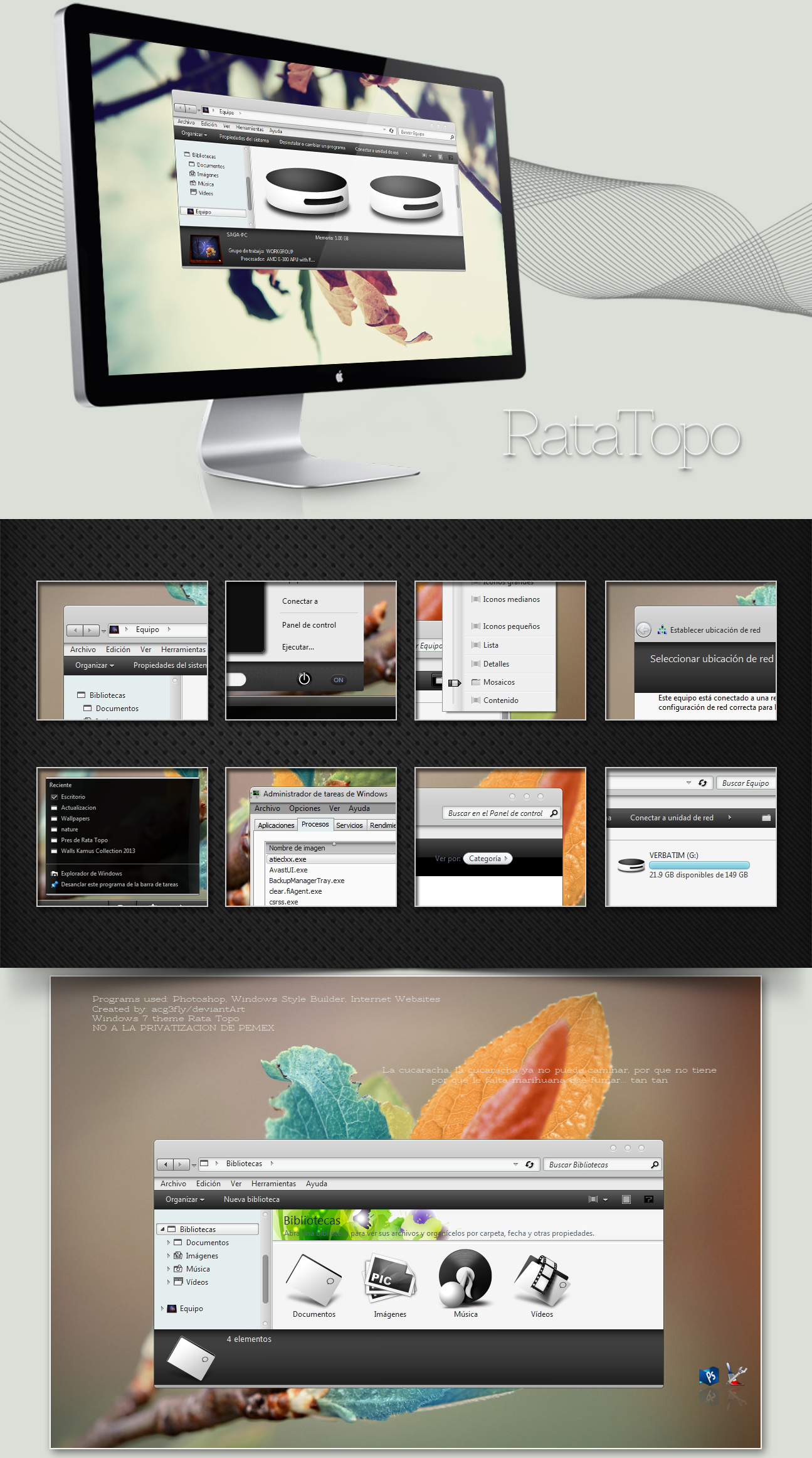 Theme Windows 7 Rata Topo (last updated 9 Mar) by acg3fly