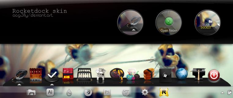 Negrito Elegant Rocket Dock skin by acg3fly on DeviantArt