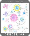 cartoonish floral brushes