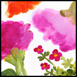 handpainted flower brushstamps by masterjinn