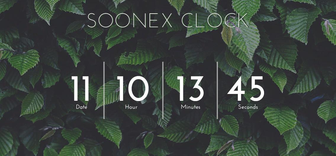 .: Soonex Clock - free :.