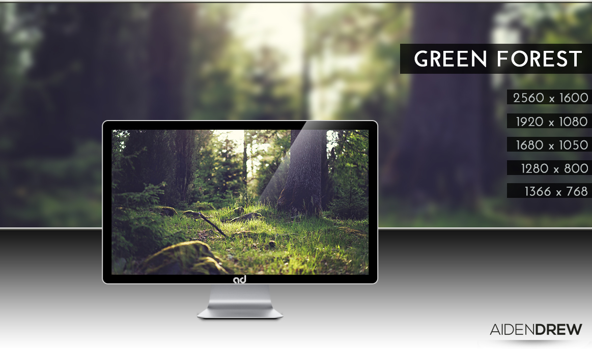 .: Green Forest Wallpaper :. by AidenDrew