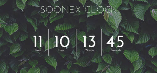 .: Soonex Clock :. FREE Re Uploaded! by AidenDrew