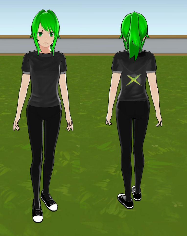 Yandere simulator custom skin: Xbox chan by woota on DeviantArt