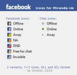 Facebook icons for Miranda-im